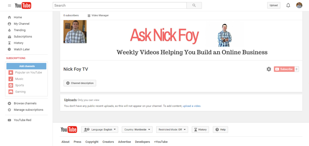ask nick foy youtube