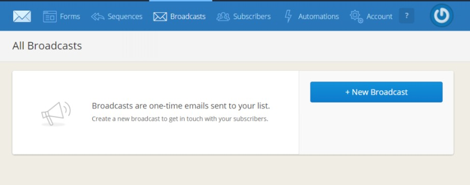 convertkit broadcast email tutorial