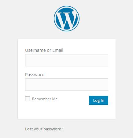 wordpress website login dashboard