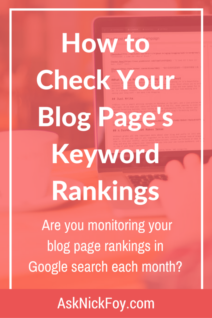 check blog keyword ranking google