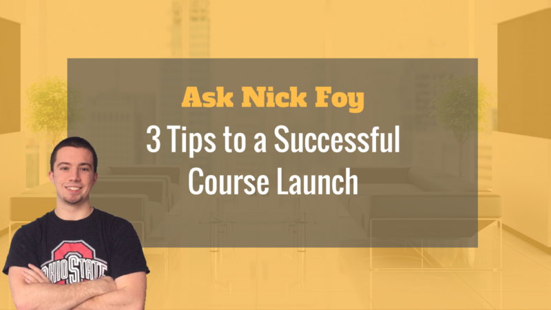 3 tips to a successful course launch