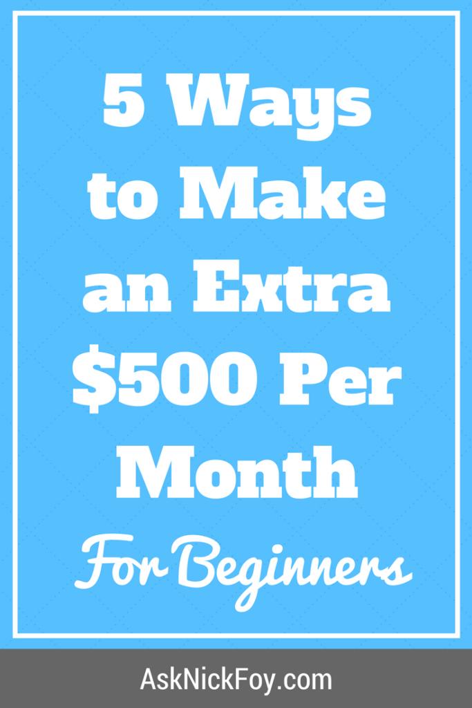 5 ways to make an extra 500 dollars