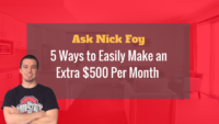 how to make an extra 500 dollars per month