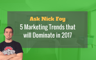 5 marketing trends for 2017