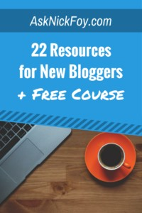 blogging resource list for new bloggers
