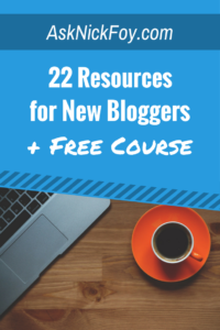 22 resources for new bloggers free online course