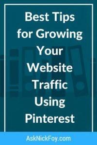 best tips grow website traffic pinterest