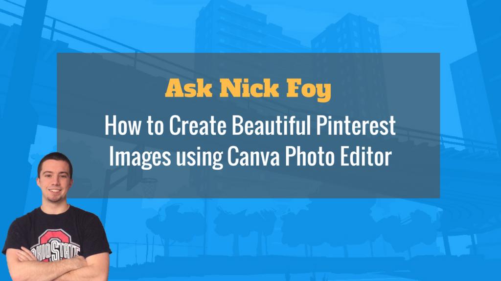 pinterest images on Canva photo editor