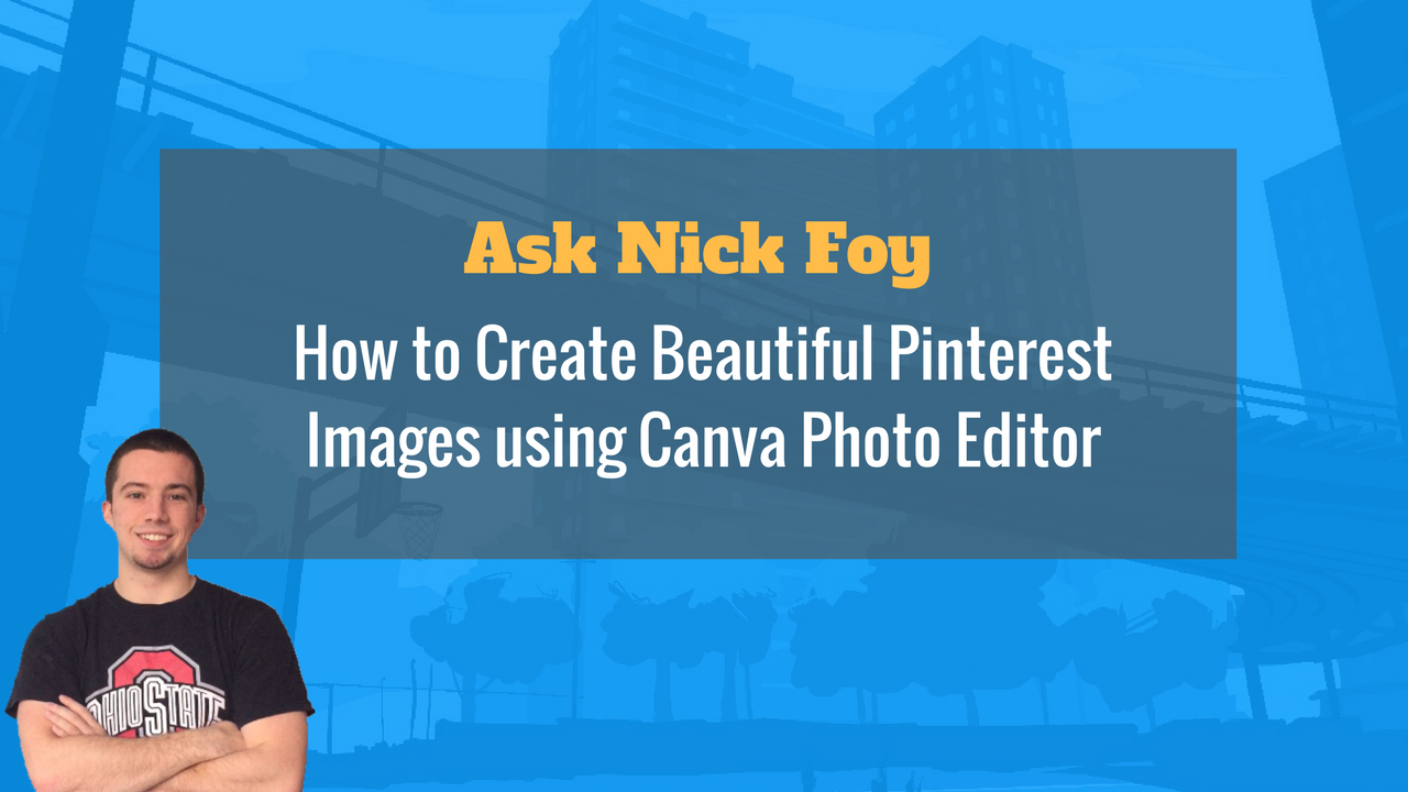 pinterest images on Canva photo editor