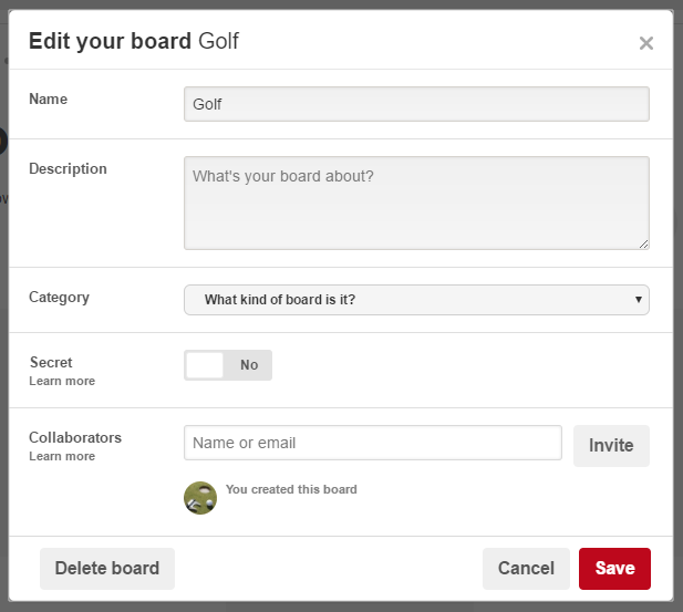 adding contributors to group board