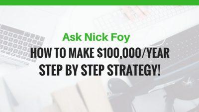 MAKE 100K PER YEAR ONLINE BUSINESS WEBSITE
