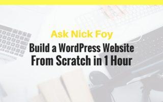 build a wordpress website scratch 1 hour
