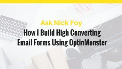 optinmonster email form builder software