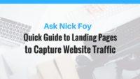 landing pages website traffic