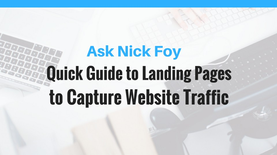 landing pages website traffic