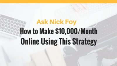 make 10k per month online business strategy