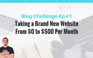 make money online blogging challenge 500 per month