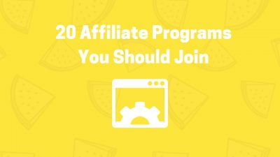 20 affiliate programs you should join extra money