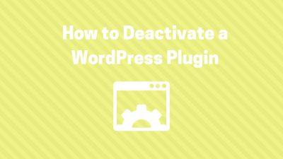 deactivate wordpress plugin