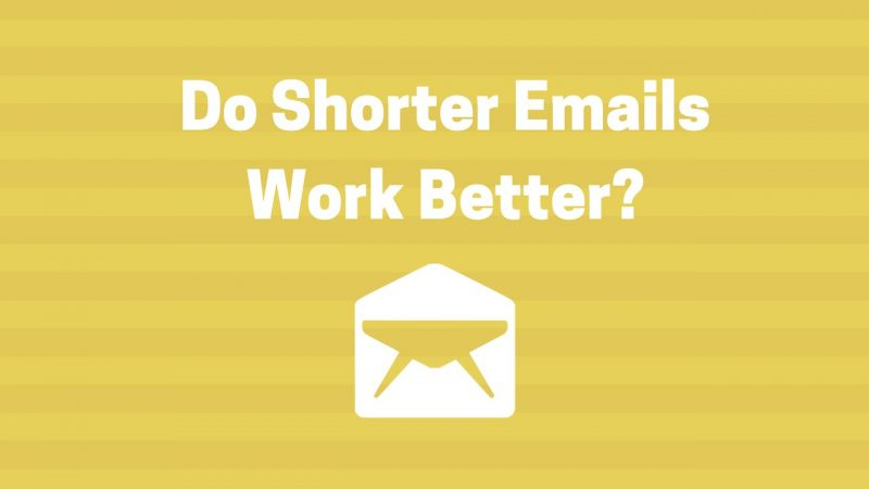 do shorter emails work better