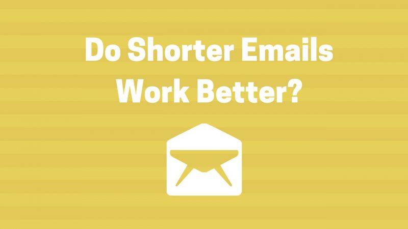 do shorter emails work better