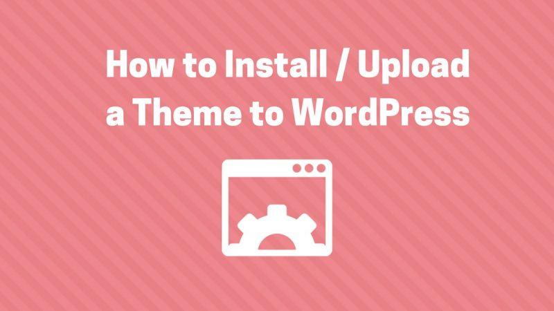 install theme wordpress
