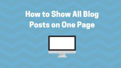 show all blogs on archive page