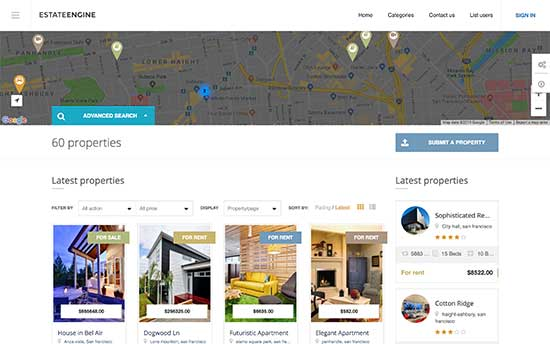 estateengine real estate wordpress theme