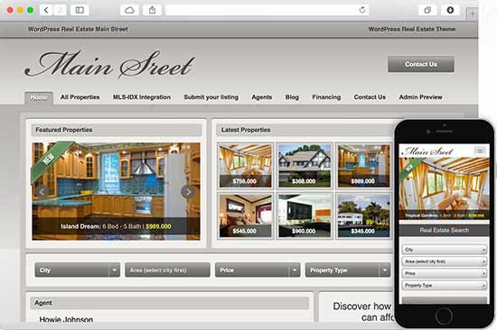 main street real estate theme