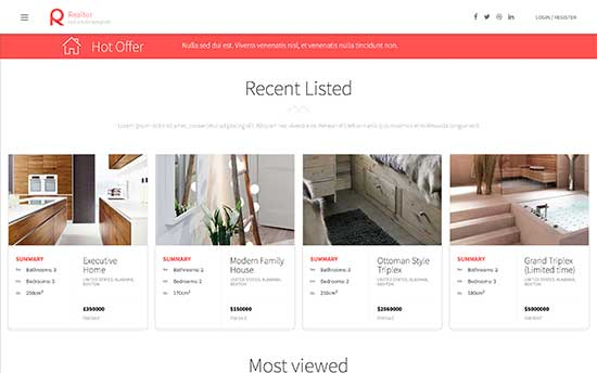 realtor wordpress theme