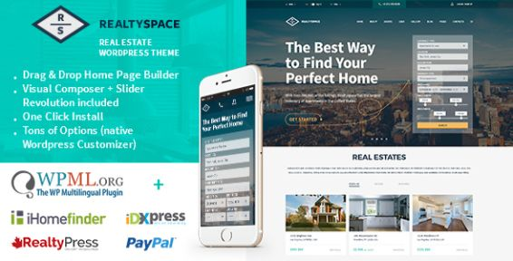 realty space wordpress theme idx