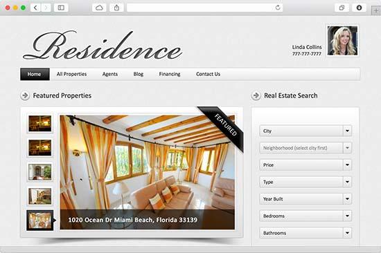 residence realtor theme