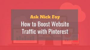 how to boost website traffic with pinterest