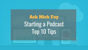 tips starting a podcast