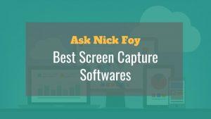 best screen capture softwares